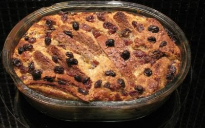 Cranberry Bread and Butter Pudding