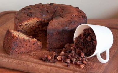 Boiled Raisin Cake With Brown Sugar Icing